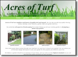 Acres of Turf website by deliberate design, Ashford, Dover Maidstone