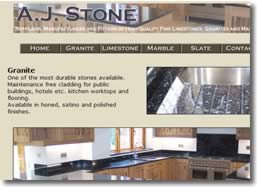 AJ Stone, granite, marble, limestone, slate Deal website by deliberate design, Dover Folkestone, Dartford, Ashford