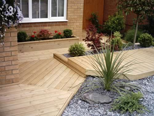 Click on picture for larger version then click right or for Garden decking maidstone