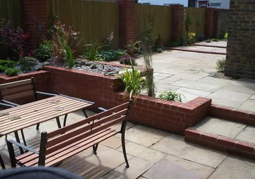Phoenix landscaping and garden design terracing in for Garden decking maidstone